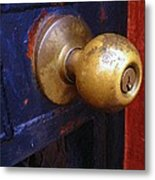 There's A Key Here Somewhere Metal Print