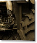 These Boots 1 Sepia Metal Print