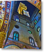 Viev From Courtyard Of Palazzo Vecchio Florence Metal Print