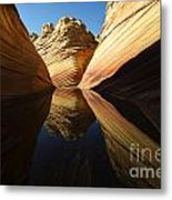The Wave Reflected Beauty 1 Metal Print