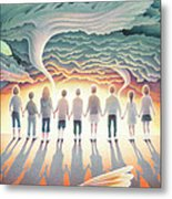 They Stand Resolute Metal Print by Amy S Turner