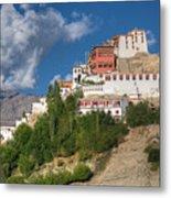 Thiksay Monastery Ladakh Jammu And Kashmir India Metal Print