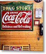 Things Go Better With Coke Metal Print