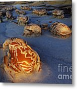 The Egg Factory  Bisti/de-na-zin Wilderness At Night Metal Print