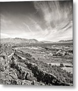 Thingvellir Iceland Black And White Metal Print