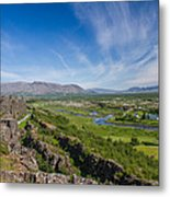 Thingvellir Iceland Metal Print
