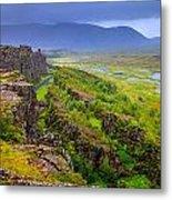 Thingvellir National Park Rift Valley Metal Print