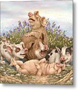 Think Happy Metal Print by Beverly Levi-Parker