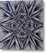 Thinkin Green Metal Print