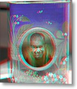 Thinking Inside The Box - Red/cyan Filtered 3d Glasses Required Metal Print