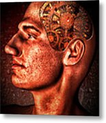 Thinking Man Metal Print