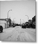 third avenue main street through Kamsack Saskatchewan Canada Metal Print by Joe Fox