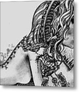 Third Eye Metal Print by Nina Schmidtke