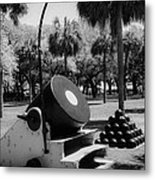 Thirteen Inch Mortar Metal Print