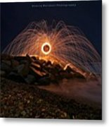 This Is A Shot Of Me Spinning Burning Metal Print