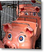 This Little Piggy Went To Market Metal Print