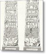 This Obelisk Of Black Marble  Was Found Metal Print