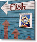 This Way To The Fish Metal Print