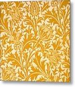 Thistle Wallpaper Design, Late 19th Metal Print