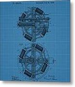 Thomas Edison Blueprint Phonograph Metal Print