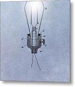 Thomas Edison Electric Lamp Patent Metal Print