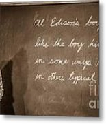 Thomas Edison's Boyhood School Metal Print