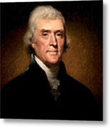 Thomas Jefferson By Rembrandt Peale Metal Print by Bill Cannon