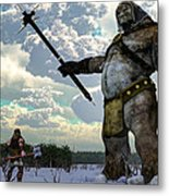 Thor And The Frost Giant Metal Print