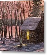 Thoreau's Cabin Metal Print
