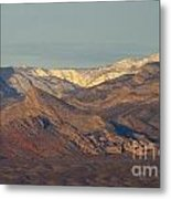 Those Beautiful Snow Cap Mountains Of Nv Metal Print