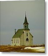 Those Old Hymns On A Snowy Day Metal Print