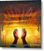Those Who Have Departed - Religious Version Metal Print