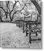 Though We Are Weathered We Remain Steadfast Metal Print