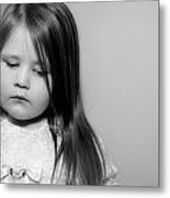 Thoughtful Little Girl Metal Print by Stephanie Grooms