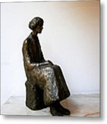 Thoughtful Woman Metal Print by Nikola Litchkov