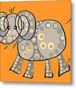 Thoughts And Colors Series Elephant Metal Print