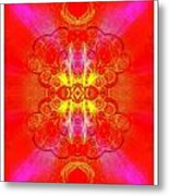 Thoughts Of Love And Light Transforming Metal Print