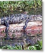 Thr Gator Metal Print