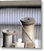 Thread And Needle Metal Print
