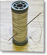 Thread And Needle Metal Print