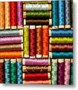 Thread Reels Metal Print