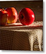 Three Apples Metal Print