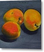 Three Apricots Metal Print