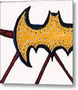 Three Bat Signals Metal Print