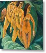 Three Bathers Metal Print