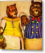 Three Bears Family Portrait Metal Print by Bob Orsillo
