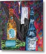 Three Beers Metal Print