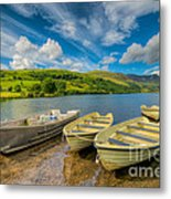 Three Boats Metal Print by Adrian Evans