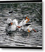 Three Bottoms Up Metal Print