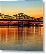 Three Bridge Sunset Metal Print